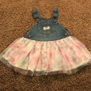 Other - 18 M Denim Overall dress w/pastel tulle bottom